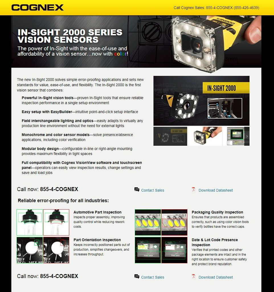 In-Sight 2000 - Vision Sensor